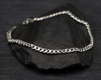 Sterling Silver Medium Curb Chain Bracelet