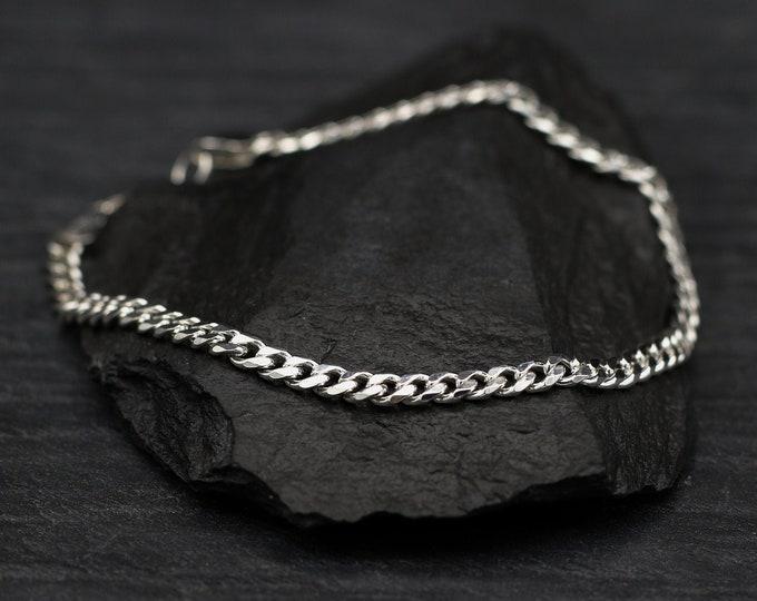 Sterling Silver Medium Curb Chain Bracelet