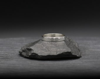 Hammered Thin Rectangle Band Ring
