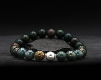 Bloodstone Beaded Bracelet