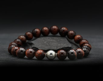 Red Tiger's Eye Beaded Bracelet