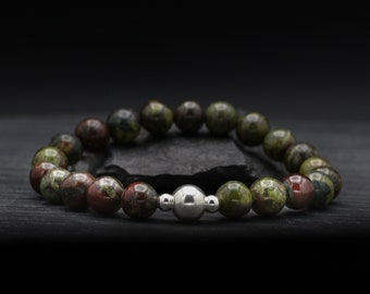 Dragon Blood Jasper Beaded Bracelet