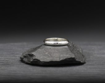 Thick Hammered Texture Band Ring