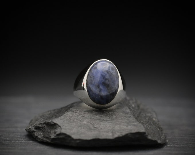 Sodalite x Sterling Silver Signet Ring