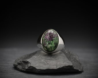 Ruby in Zoisite x Sterling Silver Ring
