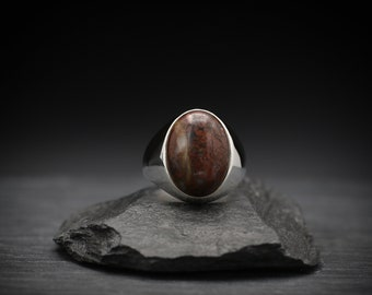 Brecciated Jasper x Sterling Silver Ring
