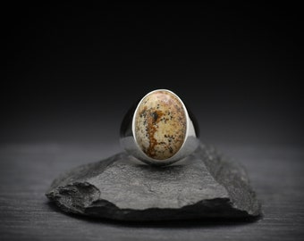 Picture Jasper x Sterling Silver Signet Ring