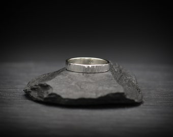 Bark Texture Sterling Silver Ring