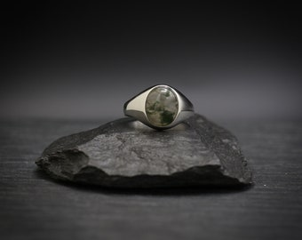 Moss Agate x Sterling Silver Ring