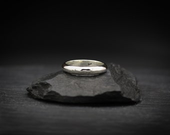 Thick Sterling Silver Band