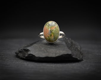 Unakite x Sterling Silver Ring