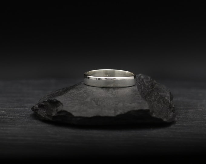 Thin Rectangle Sterling Silver Band