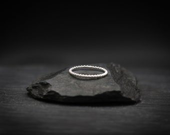 Sterling Silver Ball Band Ring