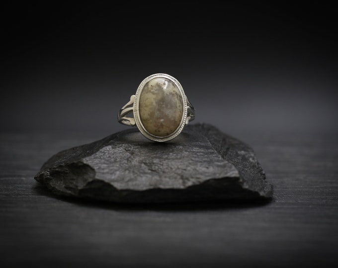 Featured listing image: Crazy Lace Agate x Sterling Silver Ring