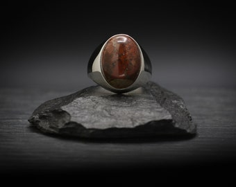 Brecciated Jasper x Sterling Silver Ring
