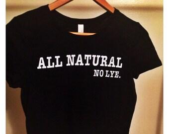 All Natural No Lye Crop Top (Xs/S)