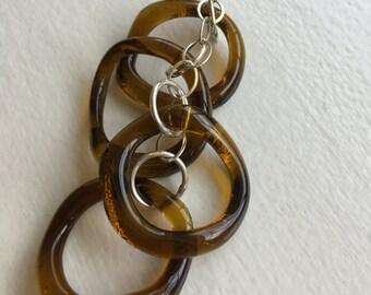 Upcycled Aveda glass necklace
