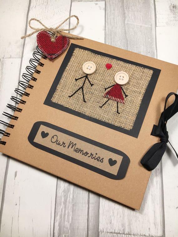 Our Memories Scrapbook Photo Album Engagement Gift Etsy
