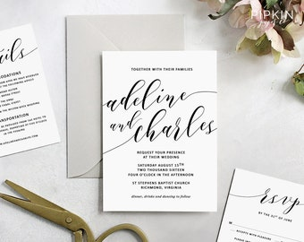 wedding directions template wedding info card template etsy
