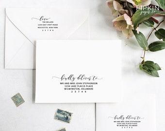 Return Address Template | Printable Envelope Address Template Calligraphy Address Etsy