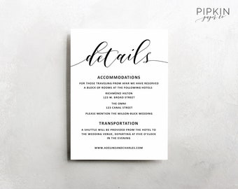 wedding details template wedding information card rustic wedding details template rust wedding invitation suite adeline