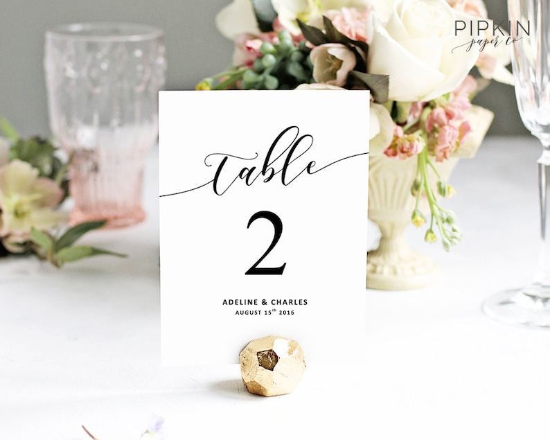 graphic regarding Printable Wedding Table Numbers titled Marriage ceremony Desk Quantities Printable Desk Quantities Electronic Obtain for Phrase  Customizable Printable Wedding ceremony Invitation Suite Adeline