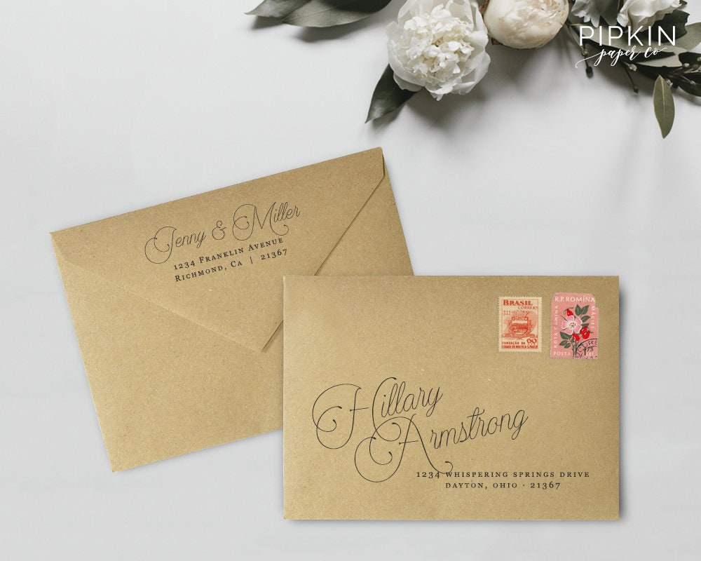 It's just a photo of Soft Printable Envelope Address Template