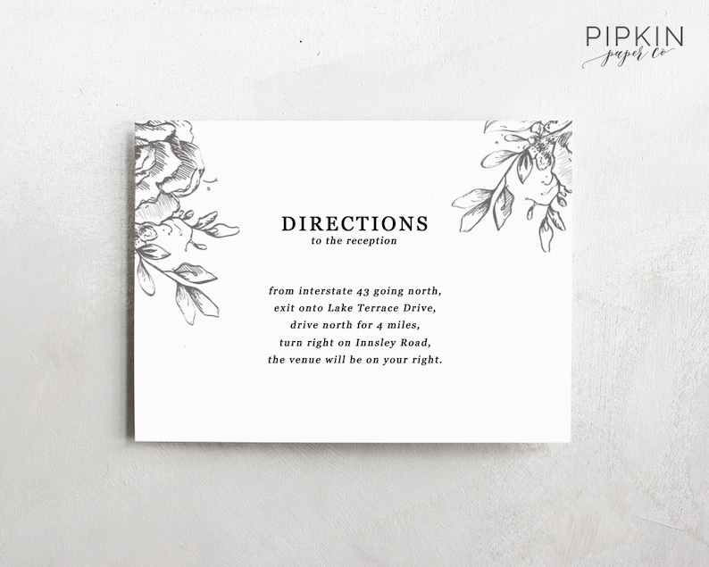 photograph regarding Printable Wedding Card identify Marriage ceremony Guidelines Card Template Printable Wedding day Invitation Electronic Down load for Phrase Thoroughly Customizable Claire