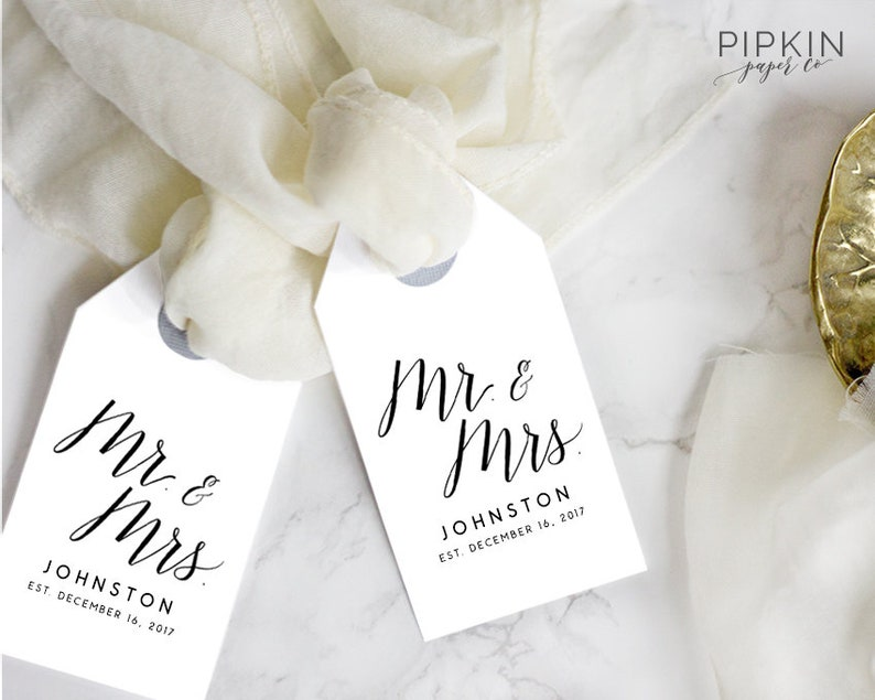 graphic relating to Printable Wedding Favor Tags referred to as Printable Reward Tags for Marriage ceremony Favors Printable Marriage Tags Template  Mr and Mrs Prefer Tags Thank Oneself Tags Template Present Tags