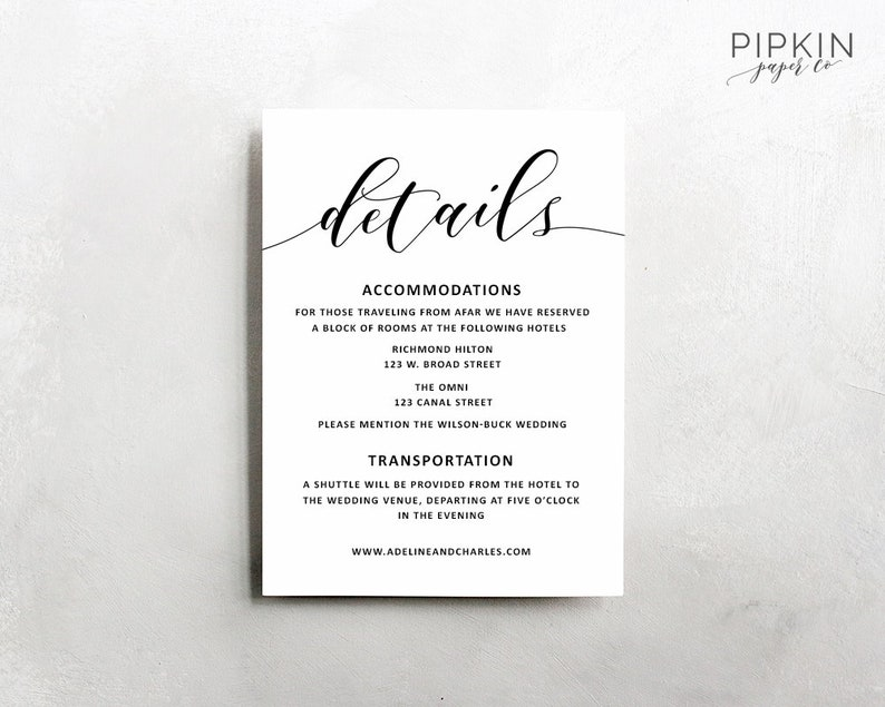 photograph relating to Information Cards Template identified as Wedding day Information Template Wedding ceremony Articles Card Rustic Marriage Information Template Rust Marriage ceremony Invitation Suite Adeline