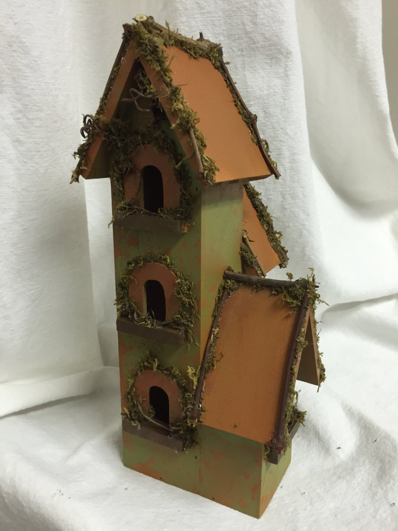 Decorative Bird House The Condo Birdhouse With Grapevines Etsy