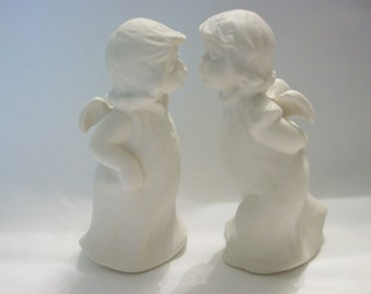 Goebel Kissing Angels Figurines, Goebel Angels, Christmas, Christmas Decor, Collectibles, Angel Figurines, Made in Germany