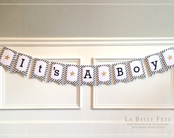 NAUTICAL STRIPES BUNTING / party banner decoration