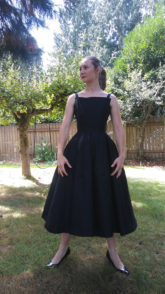 The Fairchild Dress 1950s Suzy Perette silk fit and flare dress xs