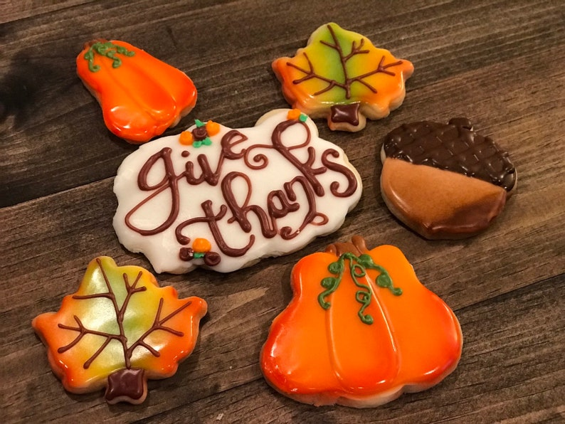 Thanksgiving Cookies ready to ship in two days