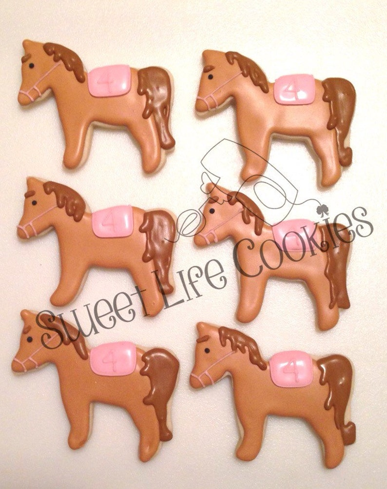 Party Favors & Games Party Supplies Giddy up Horse Birthday Cookies