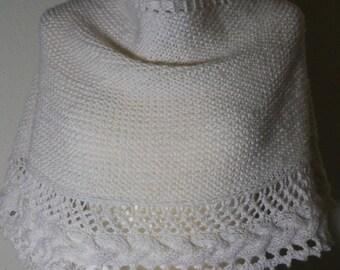 Hand knitted cloth/stole handmade pure merino wool