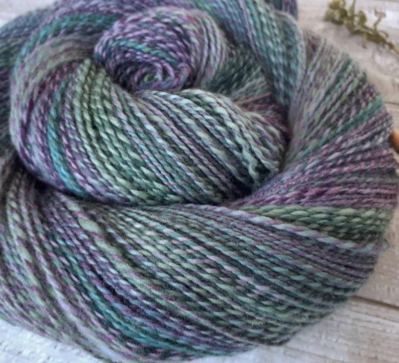 Handspun pure merino wool 400 m 104 g