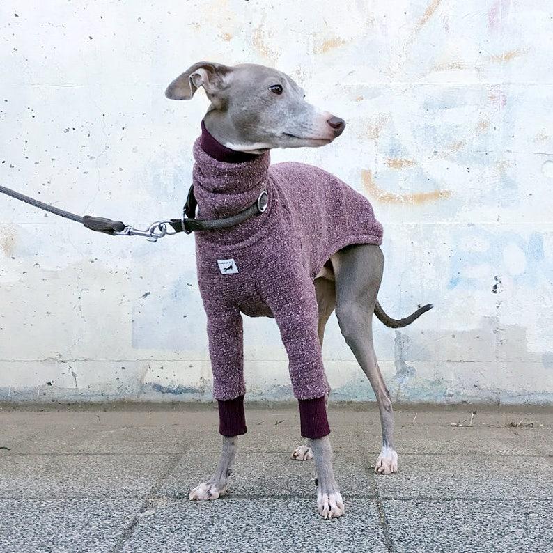 Wool Nep Long Sleeves T-shirt Wine Italian Greyhound Clothing