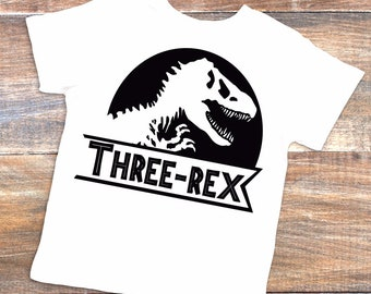 Three Rex Shirt 3rd Birthday 3 Year Old Dinosaur Party Lover Trex