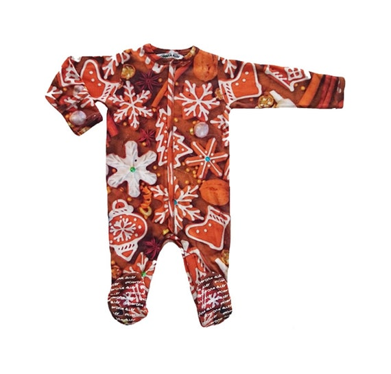 ca3f66eda2 Baby Footie Gingerbread Christmas Footed Sleeper Layette