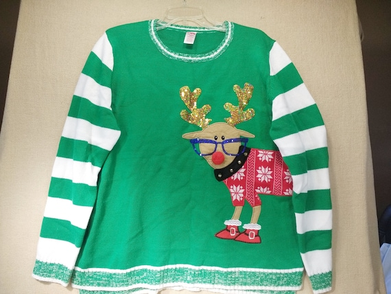 f69b4ec83ce1 Ugly Christmas Sweater Pullover Women Size XXL 20 Tacky