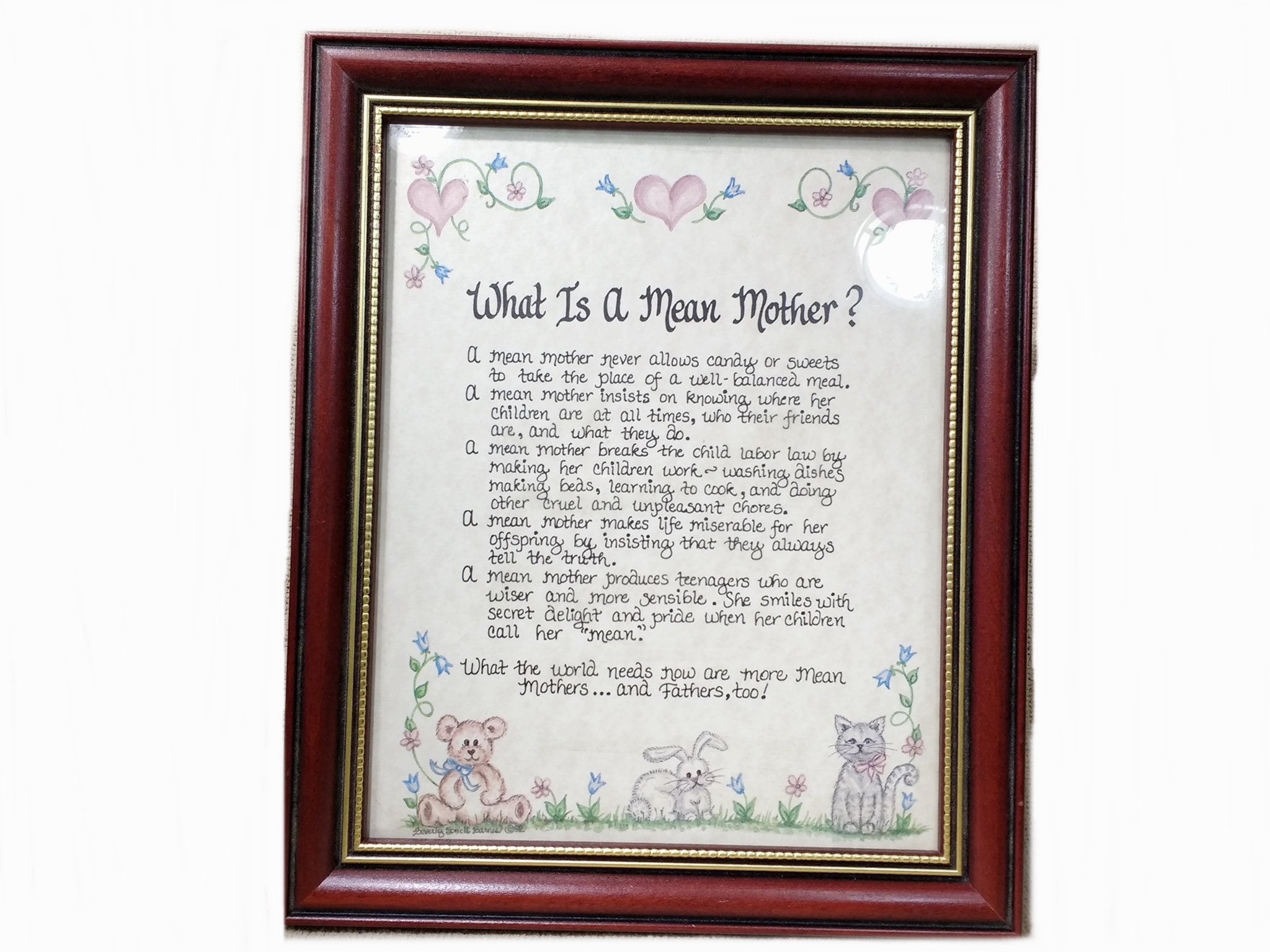 Mothers Day Gift From Daughter Son What Is A Mean Etsy