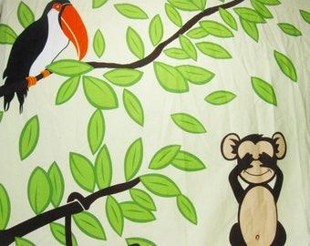 Animal Bathroom Decor, Vintage Monkey Shower Curtain, Children Bathroom