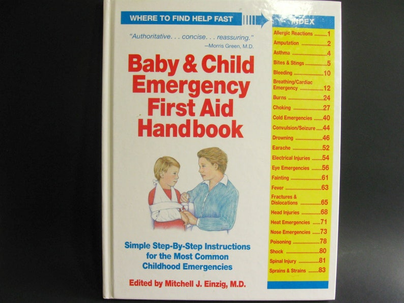 Baby & Child Emergency First Aid Handbook Book Pediatric Reference Guide