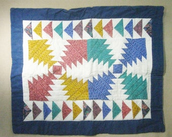 Vintage Quilted Hand Stitched Pillow Sham Standard Size