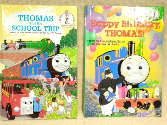 Thomas The Train, Happy Birthday Thomas & Thomas and the School Trip, I Can  Read It All By Myself Beginner Books, Like New Condition