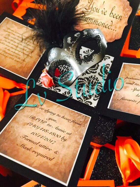 1 Masquerade Exploding Box Invitations