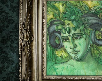 Fine Art Print - Greenman Fantasy Nature Spirit