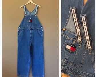 def7dbca 90's Tommy Hilfiger Overalls/Vintage Denim Overalls/90s Clothing/90s  Overalls/Bib Overalls/90s Hip Hop Clothing/Tommy Hilfiger